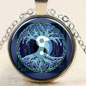 NEW Yin Yang Tree Life Hippie Boho Necklace